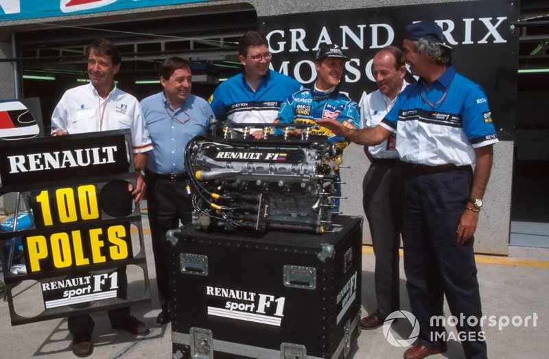 Renault'nun 100. pole pozisyonu ve Michael Schumacher, Benetton