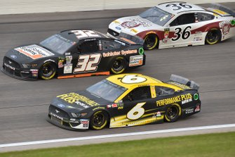 Ryan Newman, Roush Fenway Racing, Ford Mustang Performance Plus Motor Oil, Corey LaJoie, Go FAS Racing, Ford Mustang Schluter Systems and Matt Tifft, Front Row Motorsports, Ford Mustang Out West Express
