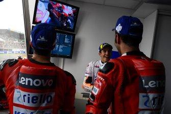 Marc Marquez, Repsol Honda Team, Danilo Petrucci, Ducati Team, Andrea Dovizioso, Ducati Team