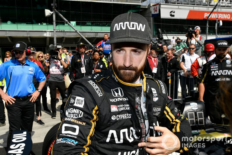 More trials and tribulations for Hinchcliffe at Indy, but he and the Arrow SPM team persevered and got on the grid.