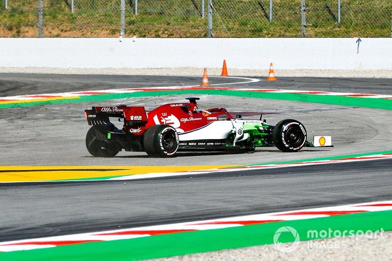 Callum Ilott, Alfa Romeo C38, se marca un trompo