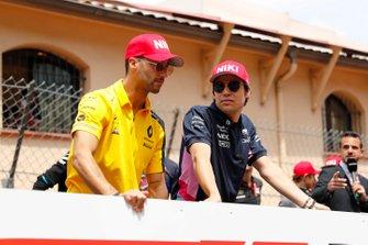 Daniel Ricciardo, Renault F1 Team, and Lance Stroll, Racing Point