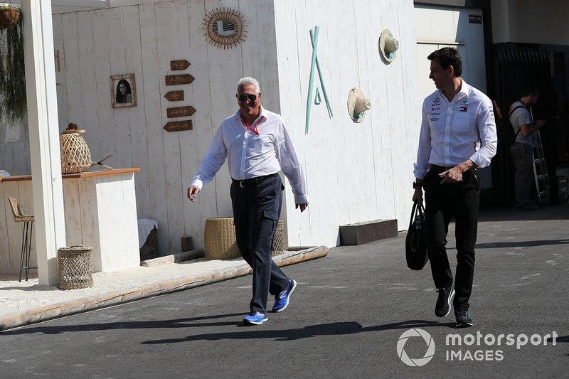 Lawrence Stroll y Toto Wolff, Mercedes AMG