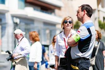 Susie Wolff, Team Principal, Venturi Formula E, on a track walk