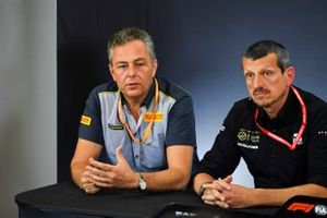 Mario Isola, Racing Manager, Pirelli Motorsport, and Guenther Steiner, Team Principal, Haas F1, in a Press Conference