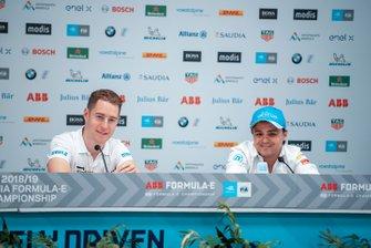Stoffel Vandoorne, HWA Racelab, Felipe Massa, Venturi Formula E, alla conferenza stampa