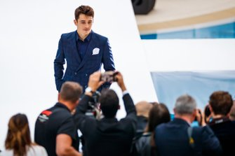 Charles Leclerc, Ferrari, at the Amber Lounge fashion show