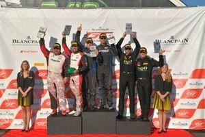 #2, Porsche 718 Cayman CS MR, Jason Bell, #3 BMW M4 GT4 Randy Mueller and James Clay, #69 Porsche Cayman GT4 CS-MR Thomas Collingwood and John Tecce