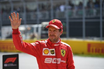 Pole man Sebastian Vettel, Ferrari