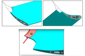 Speedway front wing modification