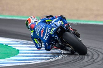 Alex Rins, Team Suzuki MotoGP, sliding