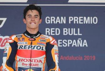 Podium: race winnaar Marc Marquez, Repsol Honda Team