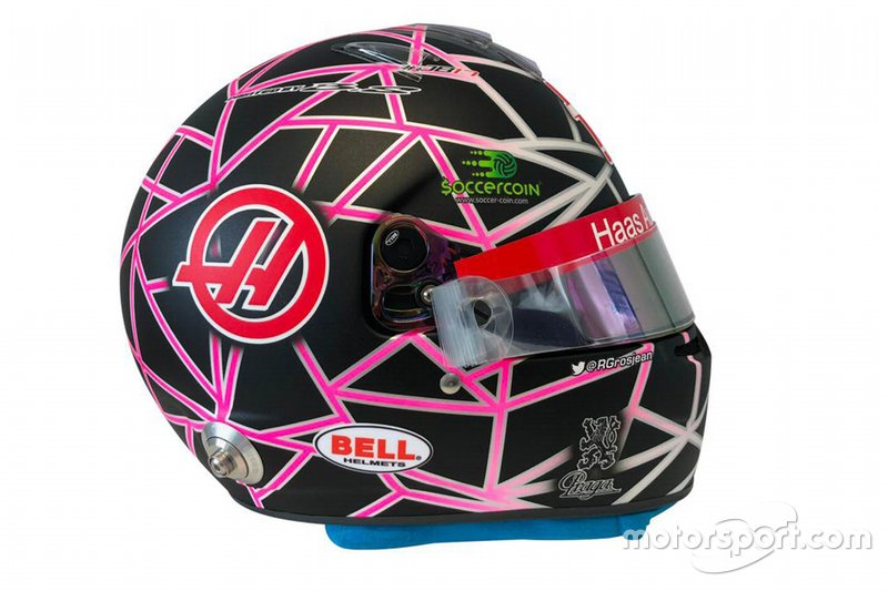 El casco de Romain Grosjean, Haas F1 by Richard Orlinski