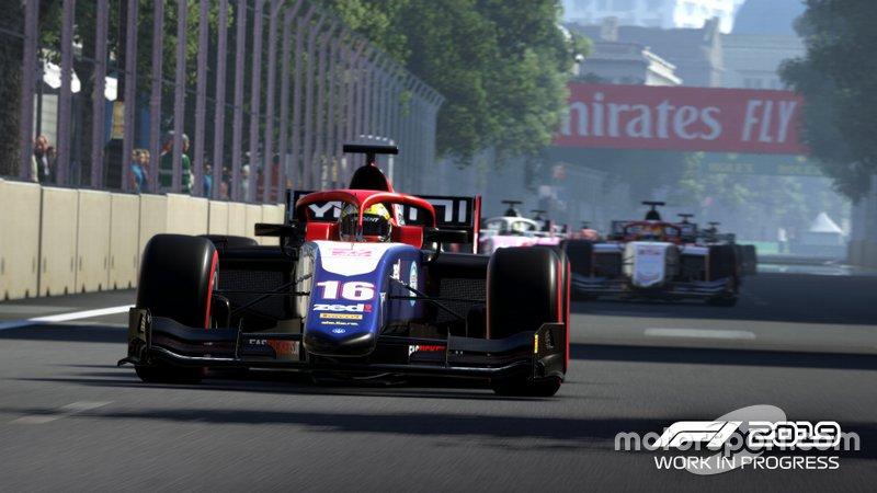 Imagen de la FIA F2 en el videojuego 'F1 2019'