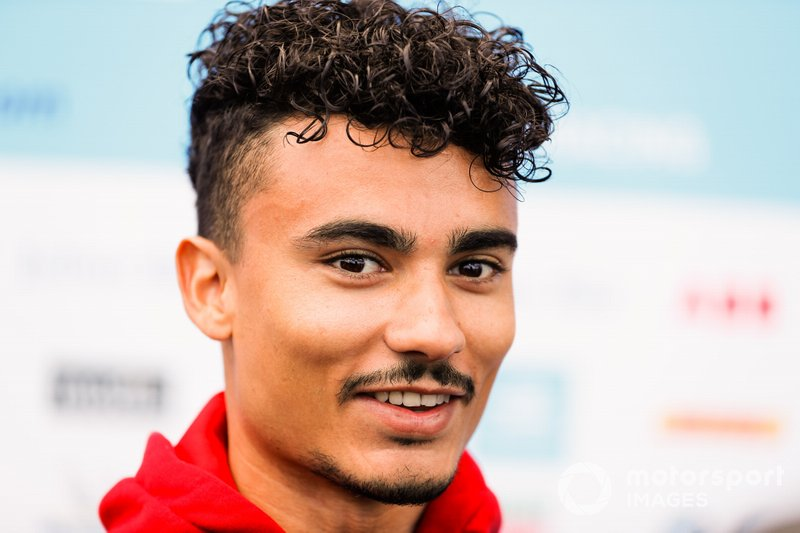 Pascal Wehrlein, Mahindra Racing, talks to the press