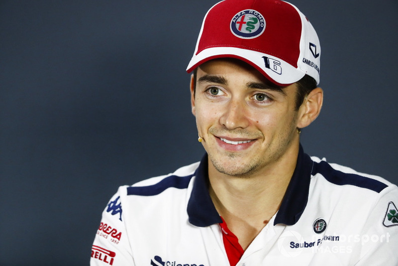 Charles Leclerc, Sauber, in the press conference
