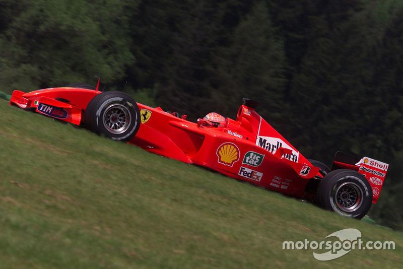 2001: Ferrari - Campeón, 9 victorias, 123 puntos, 17 carreras