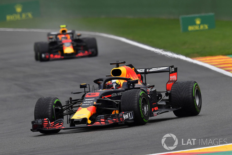 Daniel Ricciardo, Red Bull Racing RB14 et Max Verstappen, Red Bull Racing RB14