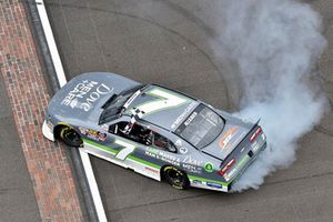 Justin Allgaier, JR Motorsports, Chevrolet Camaro Dove Men + Care celebrates his win