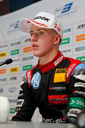 Press conference, Jüri Vips, Motopark Dallara F317 - Volkswagen