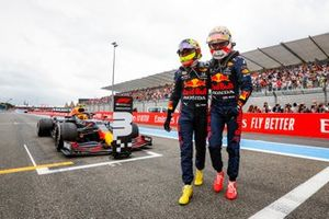 Max Verstappen, Sergio Perez, Red Bull Racing after French GP