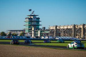 #33 Winward Racing Mercedes-AMG GT3: Russell Ward, Philip Ellis, Marvin Dienst, #54 Black Swan Racing Porsche 718 Cayman GT4 CS MR: Tim Pappas, Jeroen Bleekemolen, Sebastiaan Bleekemolen