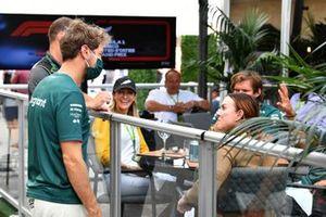 Sebastian Vettel, Aston Martin, meets some guests