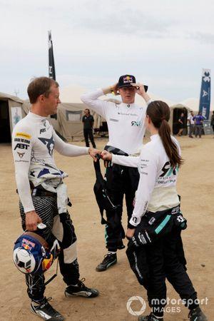 Mattias Ekstrom, ABT CUPRA XE, Johan Kristoffersson, Rosberg X Racing, y Molly Taylor, Rosberg X Racing