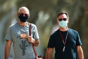 Adrian Newey, the Chief Technical Officer of Red Bull Racing and Christian Horner, Red Bull Racing Team Principal