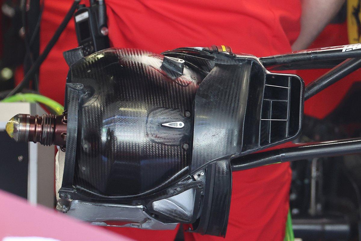 Detalle del tambor de freno del Ferrari SF21