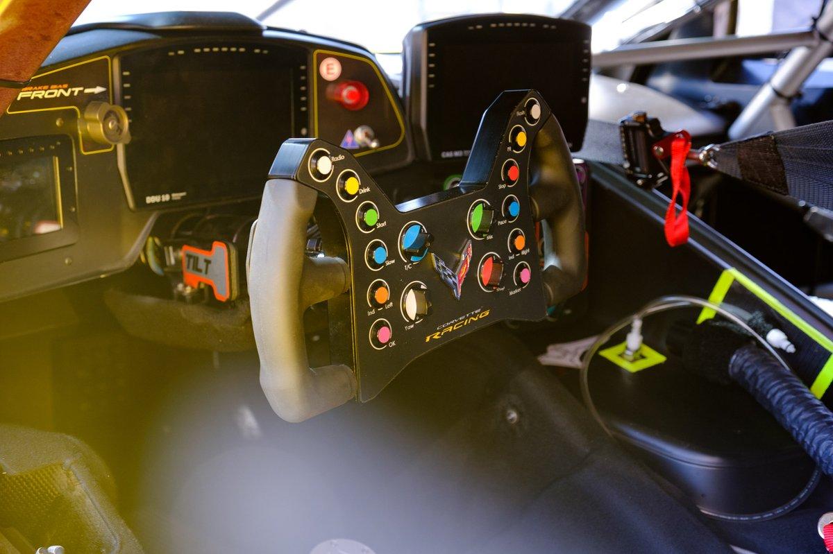 Cockpit del #63 Corvette Racing Chevrolet Corvette C8.R