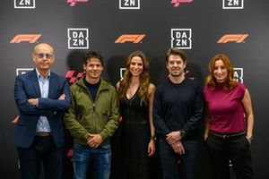 Ernest Riveras, Alex Crivillé, Lucía Villalón, Carlos Checa e Izaskun Ruiz, de DAZN MotoGP