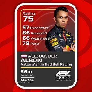 Cartas del F1 2020 definitivas: Alexander Albon