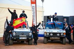 #201 Racing Wings Volkswagen: Emmanuel Eggermont, Edouard De Braekeleer, #214 Classics Competicio Land-Rover: Andres Vidal, Codina Pere Maimi