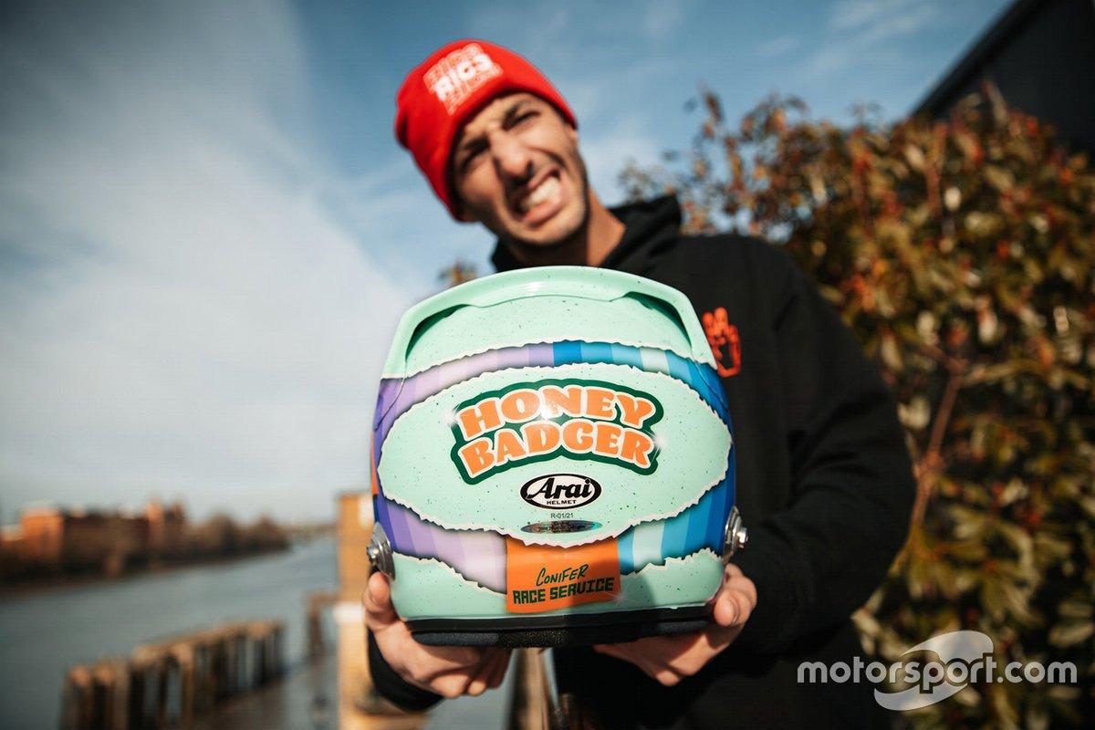 Il nuovo casco di Daniel Ricciardo, McLaren