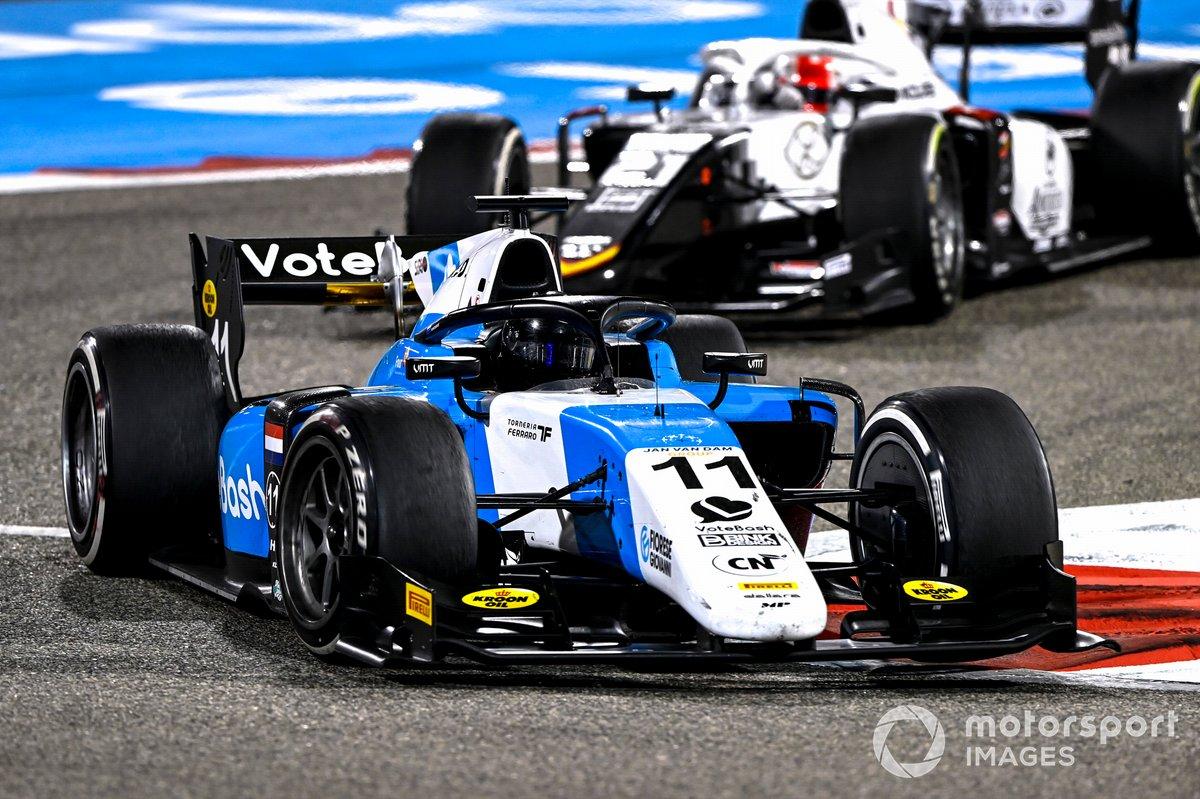Richard Verschoor, MP Motorsport, precede Ralph Boschung, Campos Racing