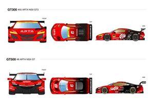 #8 ARTA NSX-GT, #55 ARTA NSX GT3