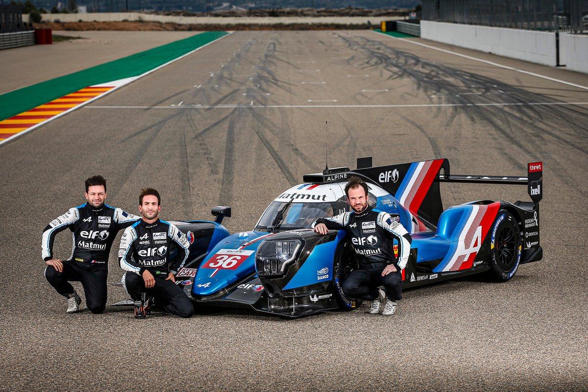 André Negrão, Nicolas Lapierre et Matthieu Vaxiviere avec l'Alpine A480 LMP1