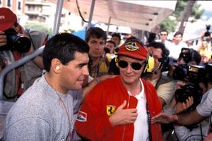 Diego Maradona and Niki Lauda