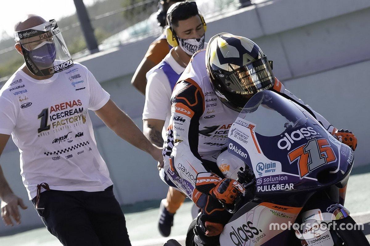 El campeón de Moto3 Albert Arenas, Aspar Team