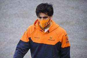 Carlos Sainz Jr., McLaren in the paddock