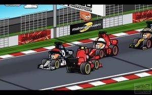 El trompo de Leclerc en el GP de España, por los MiniDrivers