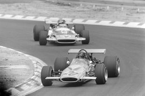 Andrea de Adamich, McLaren M14D Alfa Romeo leads Henri Pescarolo, Matra MS120