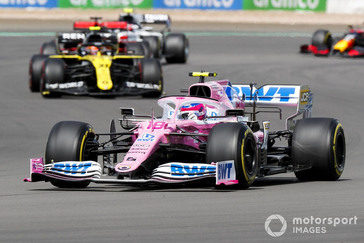 Lance Stroll, Racing Point RP20, Esteban Ocon, Renault F1 Team R.S.20