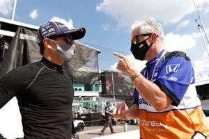 Takuma Sato, Rahal Letterman Lanigan Racing Honda, Eddie Jones engineer