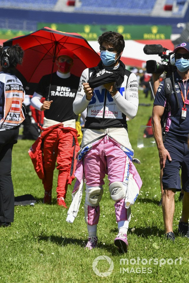 Lance Stroll, Racing Point ont the grid