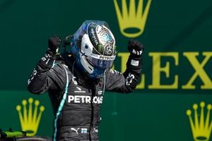 Valtteri Bottas, Mercedes AMG F1, celebrates in after winning the race