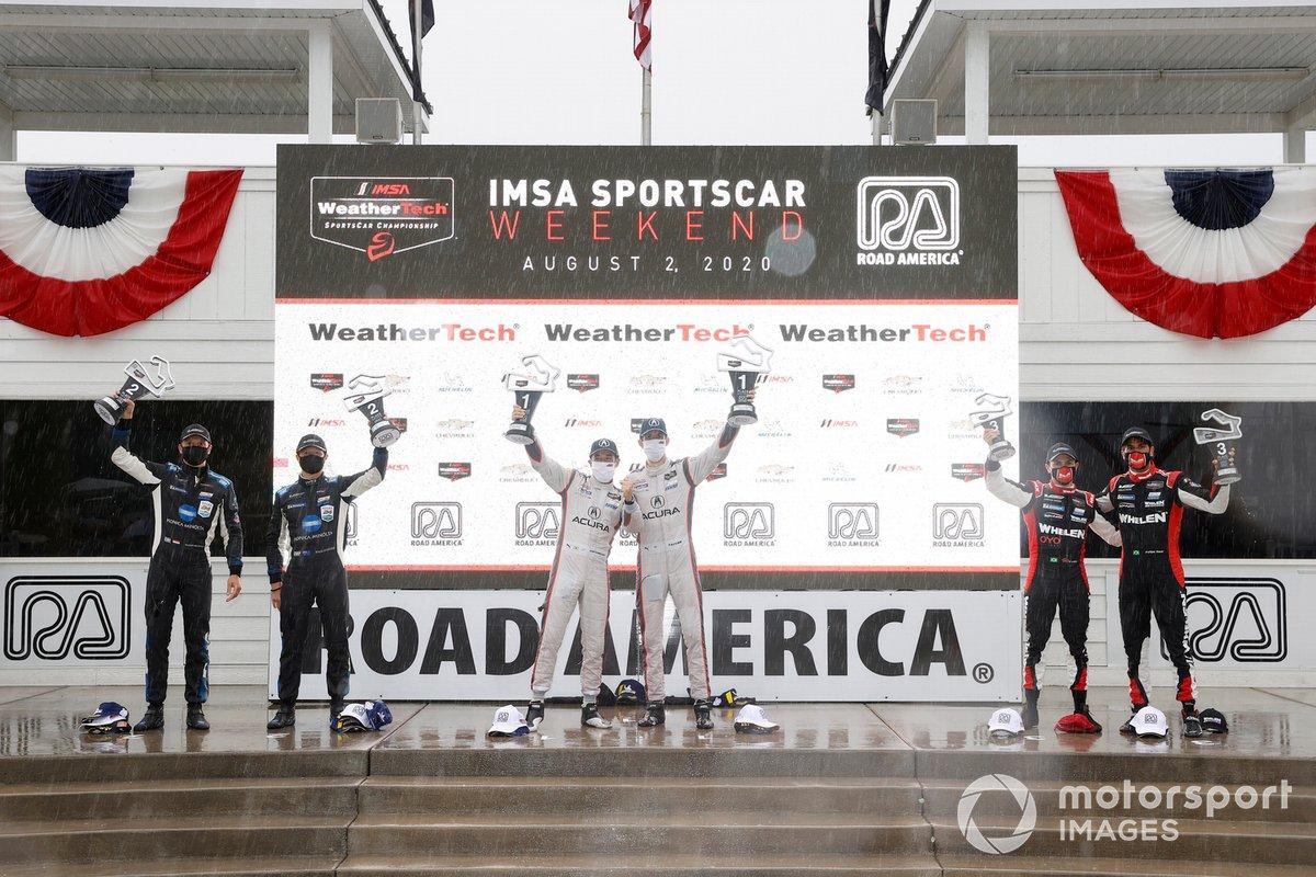 #7 Acura Team Penske Acura DPi, DPi: Helio Castroneves, Ricky Taylor, #10 Konica Minolta Cadillac DPi-V.R. Cadillac DPi, DPi: Renger Van Der Zande, Ryan Briscoe, #31 Whelen Engineering Racing Cadillac DPi, DPi: Pipo Derani, Felipe Nasr