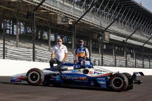 Takuma Sato, Rahal Letterman Lanigan Racing Honda and team owner Bob Rahal