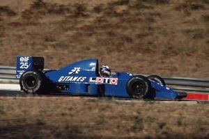 Nicola Larini, Ligier JS33B Ford, al GP d'Ungheria del 1990